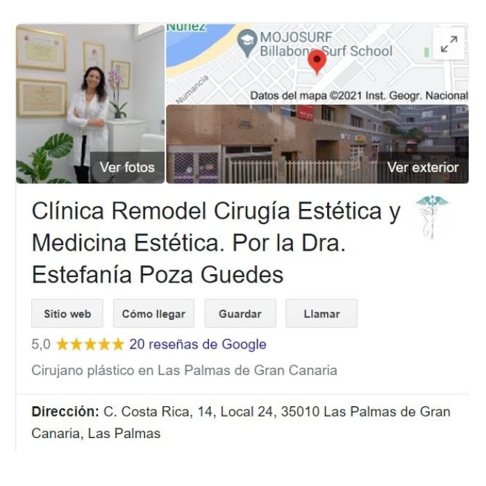 Opiniones sobre Clínica Remodel Cirugía Estética y Medicina Estética. Por la Dra. Estefanía Poza Guedes