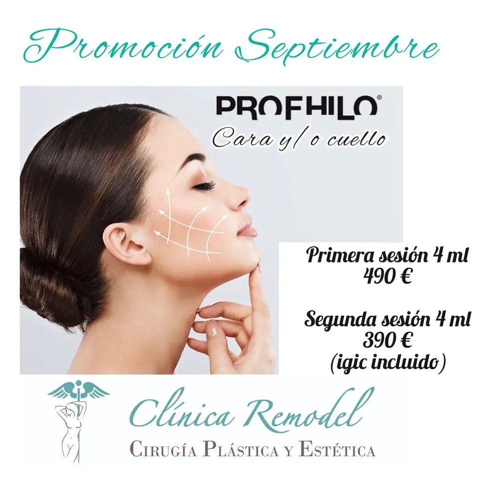 Promoción ácido hialurónico Profhilo 4 ml septiembre 2021 Septiembre 2021 Clínica Remodel Las Palmas