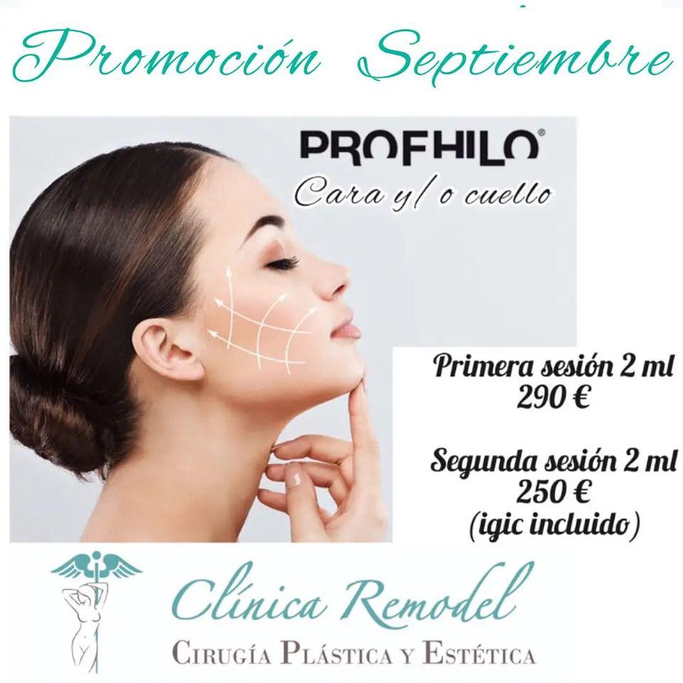 Promoción ácido hialurónico Profhilo 2 ml septiembre 2021 Septiembre 2021 Clínica Remodel